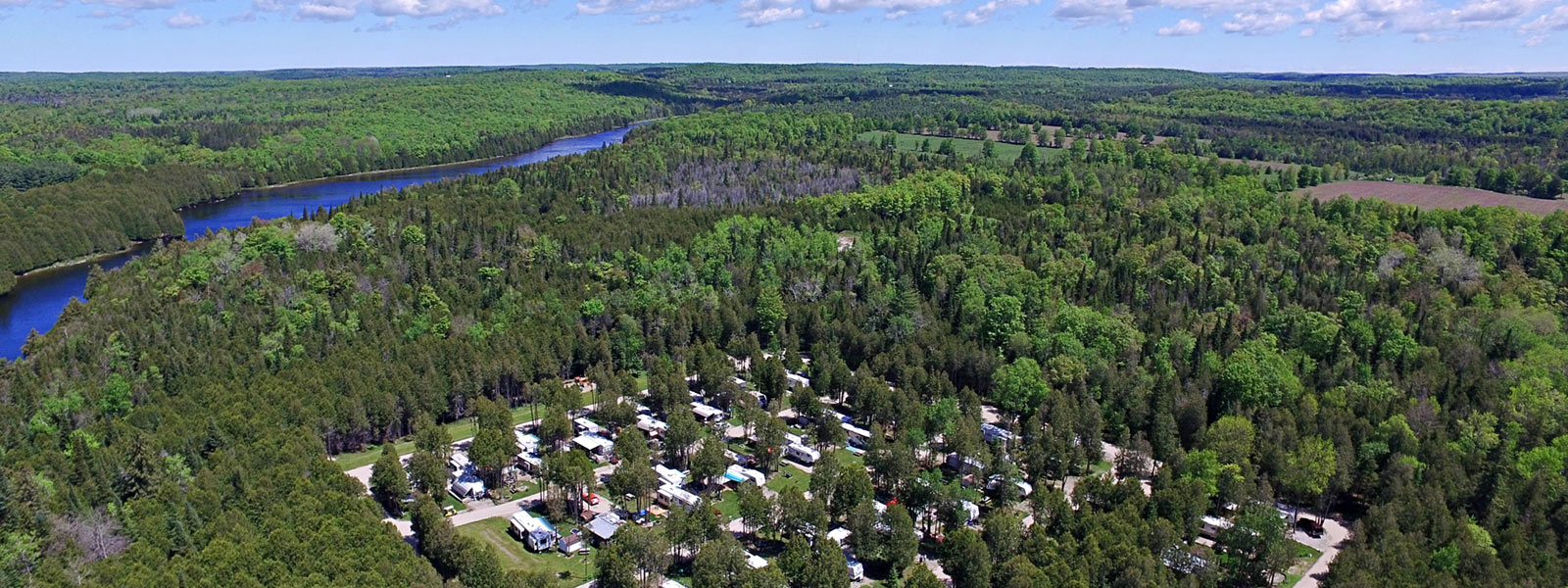 Amazing Rocky Park Campground Overhead View
